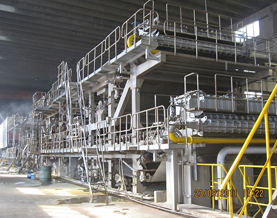 The web section of the paper machine