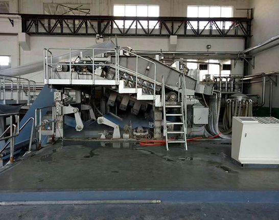 The beveling part of the paper machine